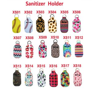 Key Rings Soap Mão Bottle Titular Neoprene Hand Sanitizer Bottle titular chaveiro Bolsas 10 * 6cm Serviço personalizado