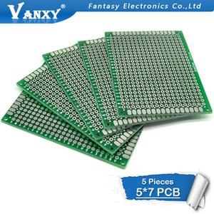 محفظة 5pcs من جانب واحد 5x7cm 5 * 7 ضعف الجانب النموذج PCB ديي العالمي اللوحات الإلكترونية المطبوعة PCB واحدة على الوجهين