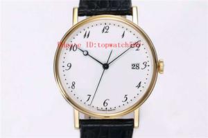 Nueva CLASSIQU 5177BR reloj Ultra Thin Fecha reloj para hombre reloj mecánico automático Cal.777Q Sapphire CNC talla correa de cocodrilo Caja de oro de 18 quilates
