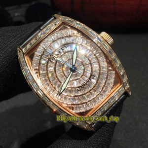 DM Beste Ausgabe MEN'S COLLECTION 8880 CC AT ETA 2824 Automatik Gypsophila Diamond Dial Herrenuhr Rose Gold Diamanten Fall Luxusuhren