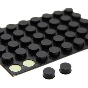 둥근 가구 손잡이, 10mm x 5mm, 자체 접착 고무 패드 6 in 1 42pcs / set