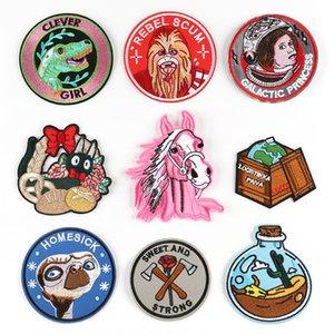 Ovni Homesick Pink Horse Dinosaurio parche bordado hierro en el parche de costura apliques ropa parche pegatinas accesorios de ropa
