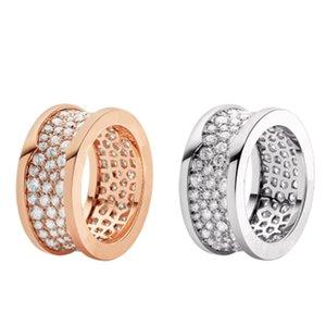 Estilo acero inoxidable amuleto de la suerte temperamento anillo espiral romano joyería oro rosa regalo de cumpleaños bzero