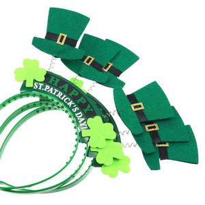 Verde St Patricks Day Irlandês Shamrock Hat Headband Bopper Acessório de Cabelo Presente