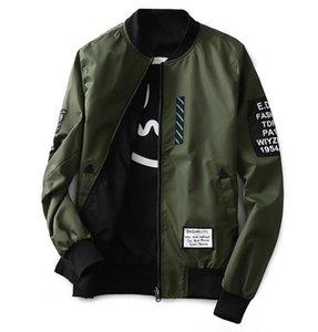 XingDeng Bomber Both Side Jacket Uomo Pilot con toppe Green Wear Thin Pilot delicati vestiti con collo alto Uomini Wind Breaker coat