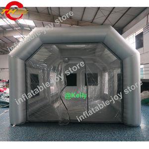 الجملة 8x4x3 متر نوعية جيدة نفخ رذاذ كشك للبيع المحمولة نفخ الطلاء كشك 26x13x10ft كبير رذاذ خيمة لسيارة اللوحة