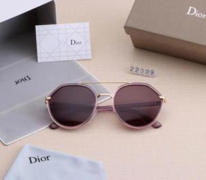 2019 luxe - haute qualité lunettes de soleil aviateur design classique lunettes de femmes de la criminalité de la marque et des lentilles de verre métalliques box1