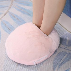 USB Foot Warmer Heating Pad Winter Heating Slippers Warm Cushion Electric Foot Winter Warming Blanket Mat