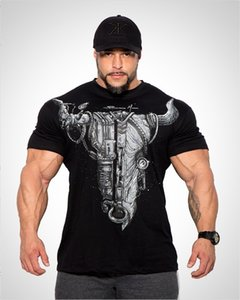2019 gym new fashion popular men's Summer New Pure Cotton Training Exercise with Round-collar Fitness Garment gym T-shirt