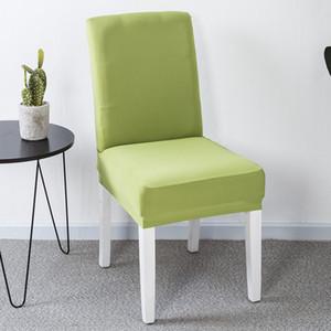 19 단색 식사 의자 커버 폴리 에스터 스판덱스 탄성 이동식 의자는 크리스마스 연회 웨딩 장식 식사 의자 시트 커버를 커버