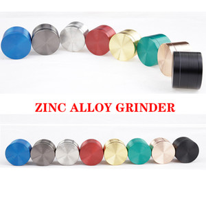 Thread Pattern Zinc Alloy Material Grinders 50 63mm 4 layers Herb Crusher Smoking Accories Dhl Free