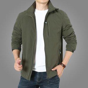 Mens Jackets Men's Spring Autumn Outdoors Jacket Coat Casual Travels Windbreaker Coat Winter Hooded Jacket Outerwear Male 7XL