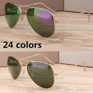 보호 베스트 수지 클래식 선글라스 파일럿 금속 58mm 도매 눈 UV400 판매 브랜드 새로운 선글라스 IUBST