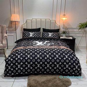 Luxo cama Set Queen Size Fashionable High End capa de edredão rainha Classic Double cama macia tampa Com fronha