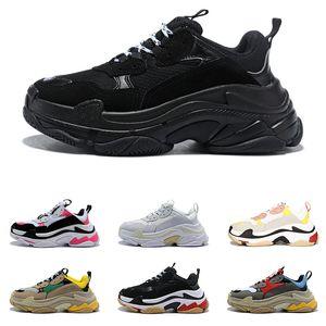 balenciaga 2020 triple s clear sole fashion sneakers de lujo zapatos de diseñador para hombres mujeres plataforma negro blanco rojo azul para hombre zapatillas deportivas