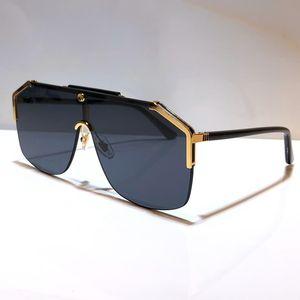 하프 프레임 코팅 렌즈 0291 마스크 남여 여성과 남성에 대한 0291S 디자이너 선글라스는 탄소 섬유 다리 여름 고전적인 스타일 선글라스