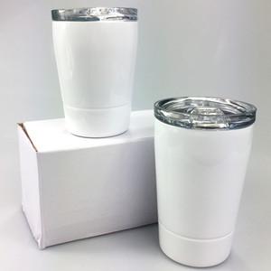 DIY Sublimation 8 Unzen Kinder Tumbler 304 Edelstahl-Becher Kinderwasserflasche Kinder Tassen Weingläser