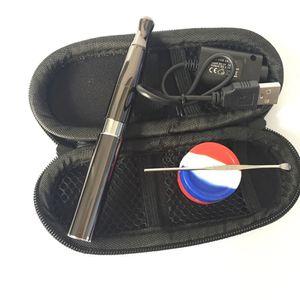 vaporizer pen skillet wax smoking vapor pens ego starter kits with wax dab tool Silicone jar smoking waxy oil burner Free DHL