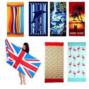 Praia Bath Blanket toalha impresso perfeito para piquenique Duche Viagem Praia Camping 180x100cm
