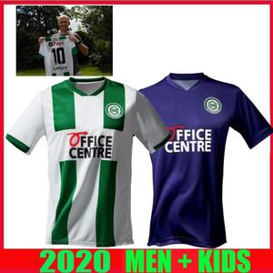 20 21 FC Groningen futbol formaları ev uzakta 2020 2021 Groningen Deyovaisio Zeefuik Daishawn Redan formalarını maillot de ayak Robben