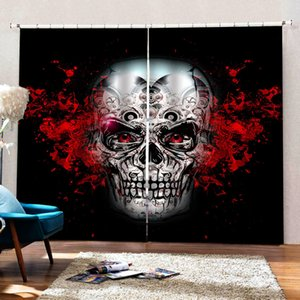 Customized size personality head 3d curtains Bedroom living room windproof thickening blackout curtains