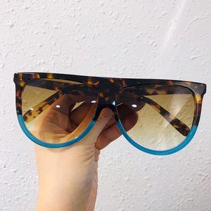 Minimalismo Euro-Am big-rim Unisex Occhiali da sole CL41435 / S Flat-top progettato gradiente UV400 61-14-145 occhiali da sole accustomized imballaggio fullset