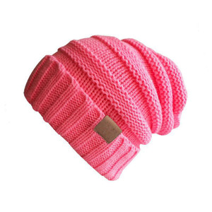 Sell Well C and C Label Knitted Woolen Hat Baby Kids Keep Warm Autumn Winter Hat Outdoor Knit Beanies Children Cap