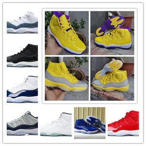 Jumpman Yellow Full Sky Star 11s Basball Shoes Pantone Wastone Grey Concord 45 Cap And Drop Heirs Men Sports Sneakers US 40-46