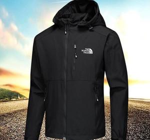 мужские куртки с длинным рукавом ветровки Ветрокрылых Louιs Vuιtton Мужчины молния Водонепроницаемая куртка лицо север балахон пальто одежды