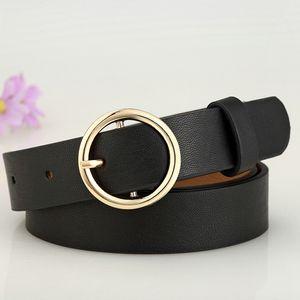 Hot Gold Rund Metall-Kreis-Gürtel Spiel Weiblich Schwarz Weiß Gold Silber Taillenbändern Big O-Ring-Gürtel für Frauen-Jeans-Hosen