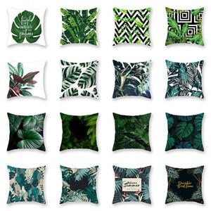Yeni Tropikal Bitki Yastık Kılıfı Yastık Kılıfı Glamour Kare Yastık Kılıfı Yastık Kılıfı Ev Ofis Kanepe Araba Dekorasyon WX9-1243