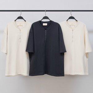 Beste Half-Zip Sweatshirt Sommer-dünne Baumwolle Terry Tops Aufnäher auf der Rückseite