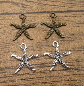 Hadas estrellas de mar al por mayor 60PCS / Lot 17 * 19mm Fit BraceletNecklaceEarringKeychain 2 colores disponibles Sea Star-WY1208