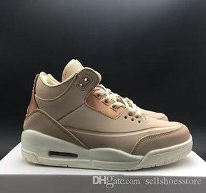 Alta calidad de los zapatos de baloncesto real 3 zapatos de oro rosa Mujeres top deportivo zapatillas de deporte con la caja de envío