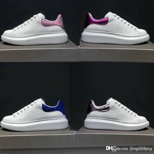 أوقات الفراغ أحذية جلدية فاخرة مصمم كلاسيكي أحذية بيضاء مربوطة الذكور امرأة أحذية رياضية الجمباز الرقص القيادة جلد البقر الأحذية المسطحة 34-45