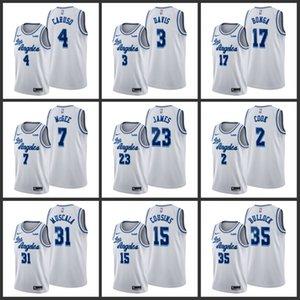 Los AngelesLakersAnthony Davis Danny Green JaVale McGee Kyle Kuzma Rajon Rondo Men Edition Basketball Jersey