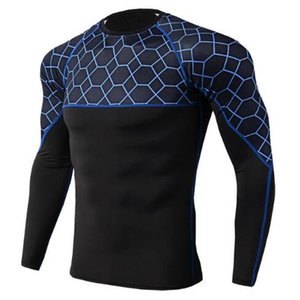 2019 New Rashgard Compression Sport Shirt Men Long Sleeve Fitness Top Sportswear Gym Training t Shirt Bodybuilding Running Shirt Men