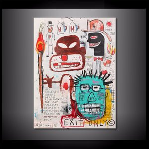 Jean Michel Basquiat Exit Only,HD Canvas Printing New Home Decoration Art Painting (Unframed Framed)