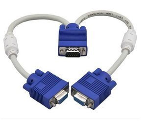 1 PC إلى 2 مراقب المزدوج فيديو VGA SVGA الطريق الجرافيك LCD TFT Y الفاصل كابل VGA الرصاص 15PIN 1 إلى 2 3 + 6
