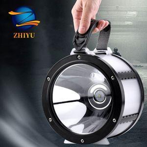 Zhiyu Big USB DC Led ricaricabile portatile Lanterne L2 72 COB IPX6 impermeabile Banca di potere di lampade a luce ultra luminosa 360
