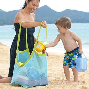 45 * 30cm saco de malha Tote da praia Shell Crianças Coletor Brinquedos sacos de armazenamento Meninos Meninas Crianças Malha Handbag Areia Bag Sandboxes Backpack D3302