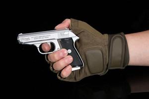 Chegada Nova Walther metal Isqueiro da pistola Isqueiros 64 PKK Browning Militar inflável Tocha mais clara Gun Handle Tem faca!