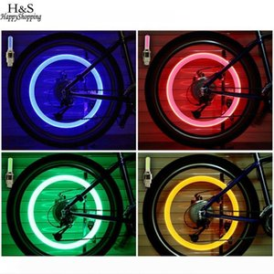 Bicycle Wheel LED Colorful light bycicle Car Caps lights Light Cycling Accessories Tyre Bike Spokes Bike Valve