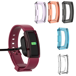 Fitbit 용 보호 케이스 Inspire / Inspire HR Smart 팔찌 클리어 TPU 보호용 시계 케이스 커버