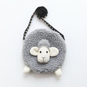 Нового милого симпатичного овец искусственного меха ребёнка Дети Мини Crossbody Сумка кошелек Bowknot прекрасного Messenger плеча мешок