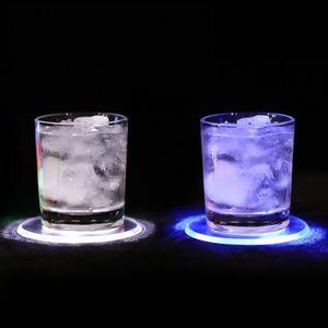 Acrílico Ultrathin Luminescence Coaster Levou Cocktail Dazzle Cup Wad Novo Padrão Rodada Coasters Venda Quente Criativo 6 5dx J1