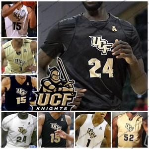 Personalizzato 2019 UCF Knights pallacanestro Jersey qualsiasi nome Number 35 Collin Smith 24 tacko fall 15 Aubrey Dawkins 2 Terrell Allen 1 BJ Taylor S-4XL