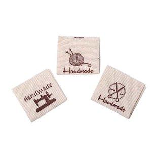 Coton Vêtements Étiquettes main gaufrée Mots clés bricolage drapeau Étiquettes pour vêtement couture Accessoires
