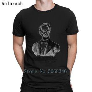 Abe Lincolner Alex Jones Cita camiseta de algodón regalo Carta de los señores de verano cuello redondo de punto ocasional de la camisa