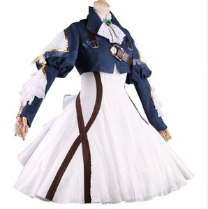 2019 Anime Violet Evergarden Cosplay Costume Auto Memory Doll Girls Halloween Carnival Dress Medieval Gothic Uniform Custom Made